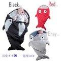 .Cute Cartoon Shark Baby Sleep Bag Winter Baby Sleep Sack Warm Baby Blanket Warm Swaddle