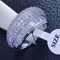 Виктория Вик Ослепительно Принцесса Cut Топаз Моделируется алмазов 10kt Золото Заполненные Обручальное Кольцо Sz 6-9 R66