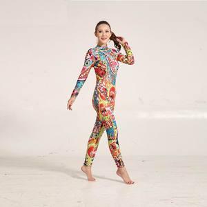 Image 2 - Hisea traje de neopreno con estampado para mujer, traje de neopreno de 3mm, costura de color, equipo de buceo, ropa de medusas de manga larga, ajustado