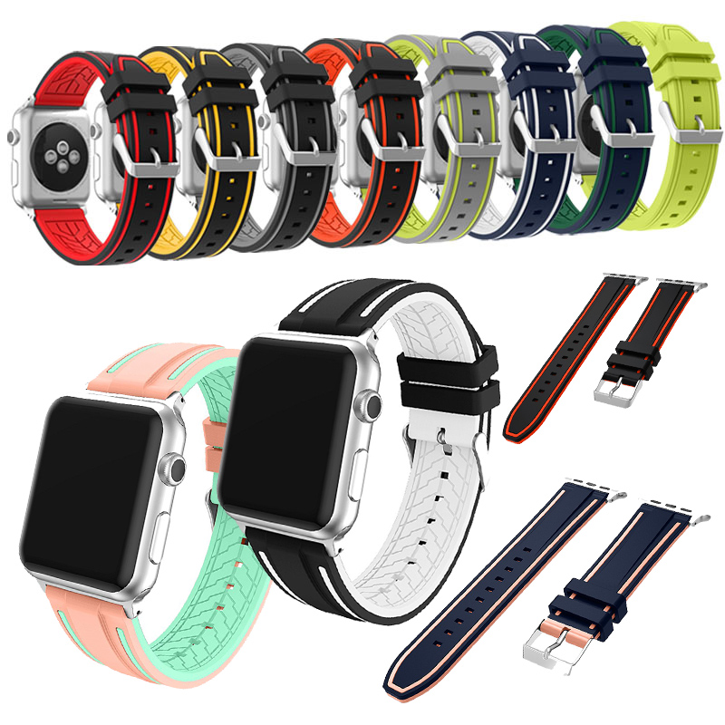 For Apple Watch Soft Silicone Replacement Sport Band For Apple Watch Series 3/1/ 2 Watch Bands  Sport&Edition 2017 large small size sport silicone replacement watch wrist strap bands for samsung gear fit 2 r360 watch band conjoined watch band