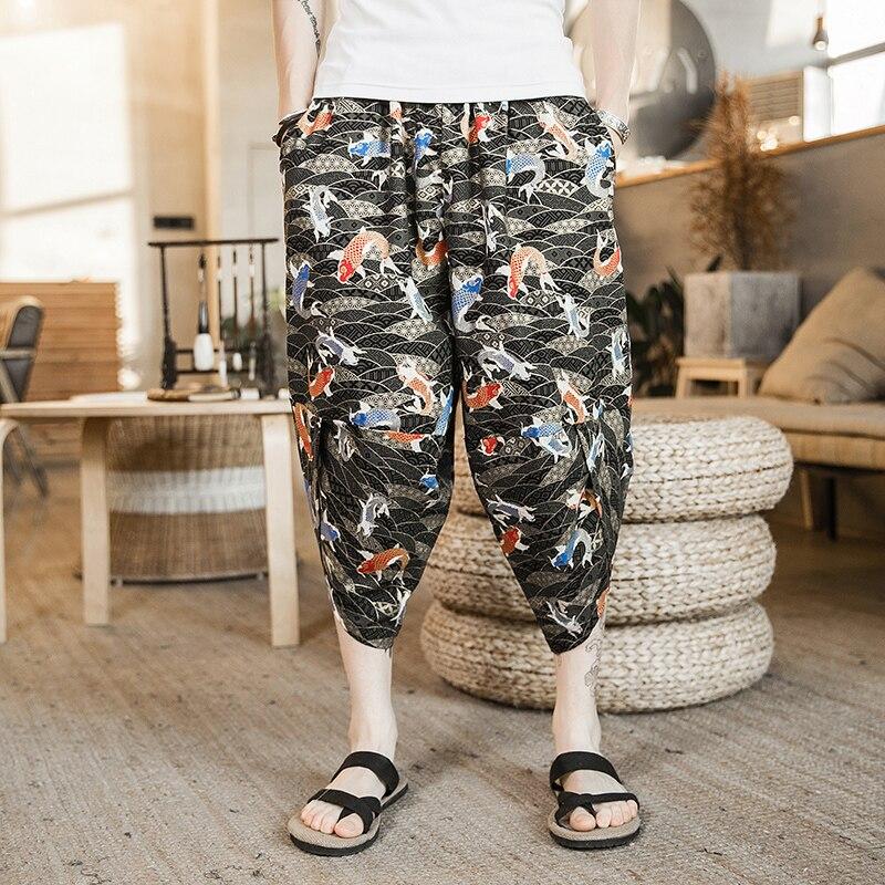 Summer Hip Hop Loose Baggy Punk Pants  1