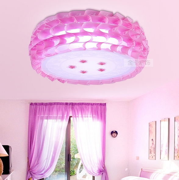 Korean princess cake LED ceiling light pink wedding bedroom living ...