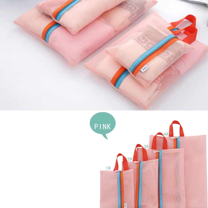7496ba949d83 US $4.7 |4pcs/Set Organizer Storage Bags for shoes Clothes Travel Luggage  Packing Mesh Pouch Organizer Shoe Bag Travelling Cosmetics Bag -in Storage  ...