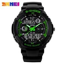 2016 S marca de choque Skmei llevó el Reloj Digital de los deportes relojes del cuarzo Casual militar del ejército Reloj Reloj hombre Reloj