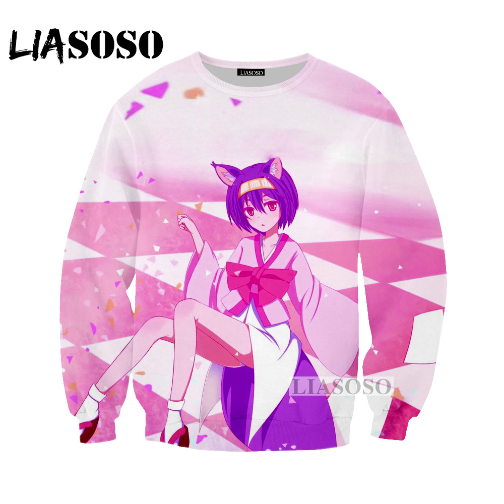 LIASOSO 2018 latest animation game life men and women sweatshirts 3D printing sweatshirt fashion long-sleeved brand clothingW026