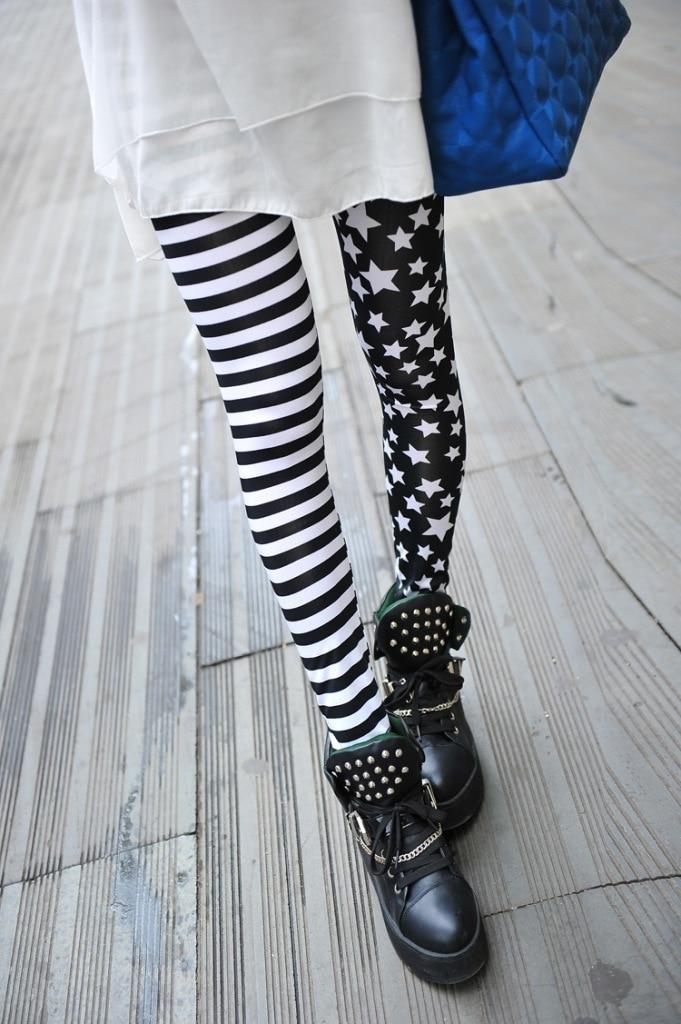 Leggings Hot Sell Women's Skull&flower Black Leggings Digital Print Pants Trousers Stretch Pants LG03