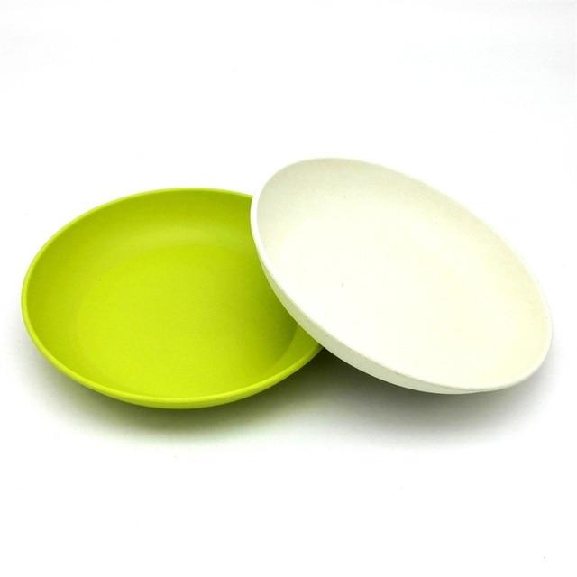 4PCS Deep dishes dinner plate new design deep bowls bamboo fiber dishes cake white blue plates  sc 1 st  AliExpress.com & 4PCS Deep dishes dinner plate new design deep bowls bamboo fiber ...