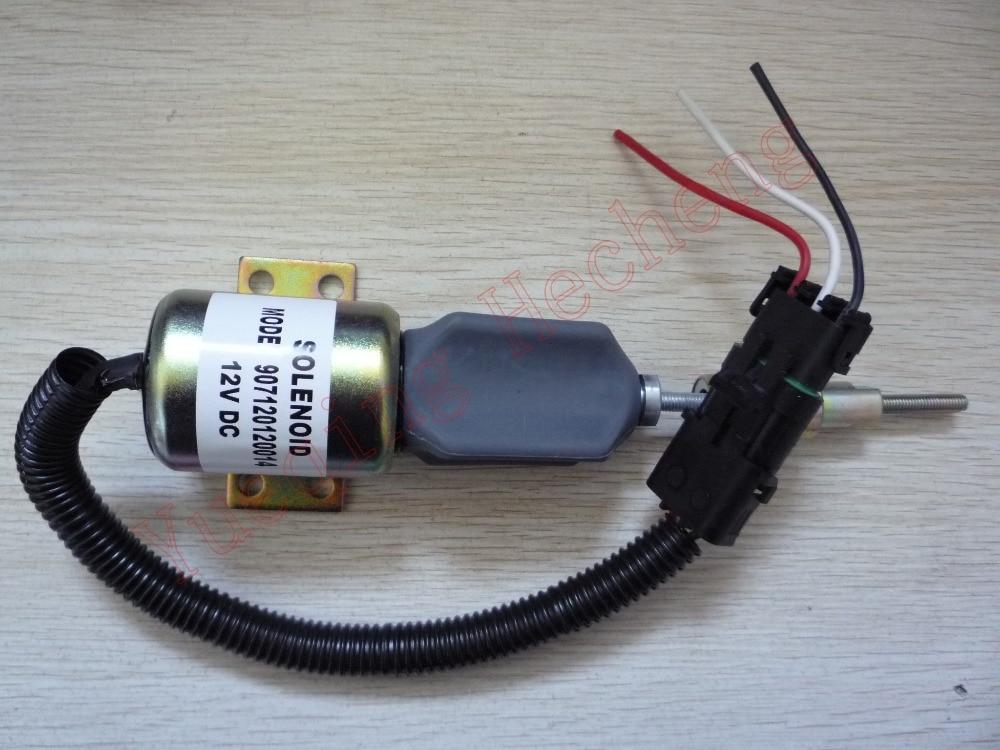 Fuel Shutdown Solenoid Valve 3357411 907120120014 12V free shipping fuel shutdown solenoid valve 0419 9900 04199900 12v for deutz 1012