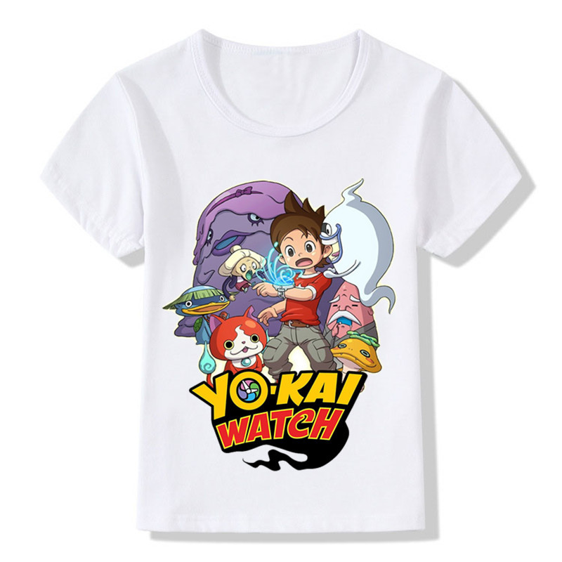 Children Yo Kai Watch Cartoon Design Funny T-Shirts Boys Girls Tops Short Sleeve Tees Kids Casual Clothes For Toddler,HKP5137 hot sale kids t shirts cartoon streetwear short sleeve casual o neck boys and girl t shirts tops funny children t shirt homme