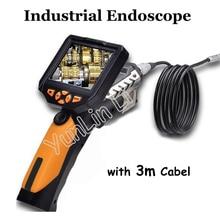 """3,"""" ЖК-дисплей обследование при помощи бороскопа, эндоскопа Камера зум поворот 5,5 мм объектив Водонепроницаемый промышленный эндоскоп с 7 языков NES200"""