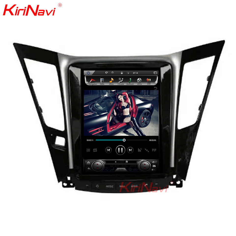 KiriNavi Verticale Dello Schermo Tesla Stile Android 7.1 Da 10.4 Pollici Car Stereo Dvd Per Hyundai Sonata Radio Gps Sistema di Navigazione Con 4G