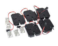 4pcs 12VDC 2A Solenoid Electromagnetic Electric Control File Case Cupboard Cabinet Drawer Lockers Lock push to open