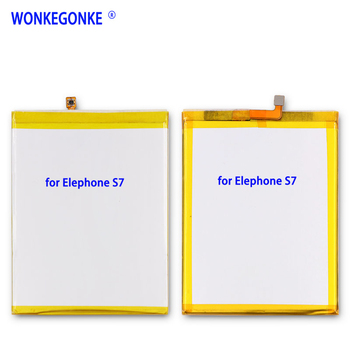 WONKEGONKE para Elephone S7 teléfono batería 3000mah 3,8 V para 5,5 pulgadas para Elephone S7 MT6797 Helio X20 deca Core baterías batería