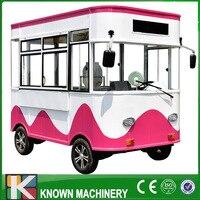 Многофункциональный закуски/питания автомобиля Электрический четырехколесный мобильный фургон закусочная электрический автомобиль прям