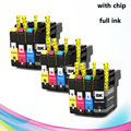12pcs ink cartridge for brother LC131 LC133 LC135 DCP-J172W/J152W/J552DW MFC-J245/J470DW/J650DW/J870DW J4410DW/J4510DW/J4610DW