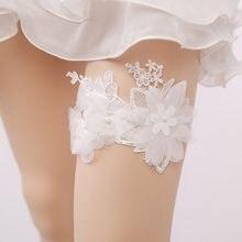 935807c9b2 Nueva boda del cordón de la mujer flores Sexy ligas romántica ceremonia  nupcial muslo suspenders anillo Accesorios
