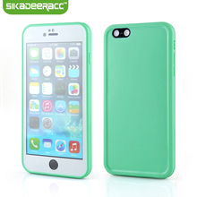 Silicone Waterproof Protective Phone Covers For iPhone 5s 6s 7 Plus Mobile Phone Back Cases Shell Housing Accessories DE04