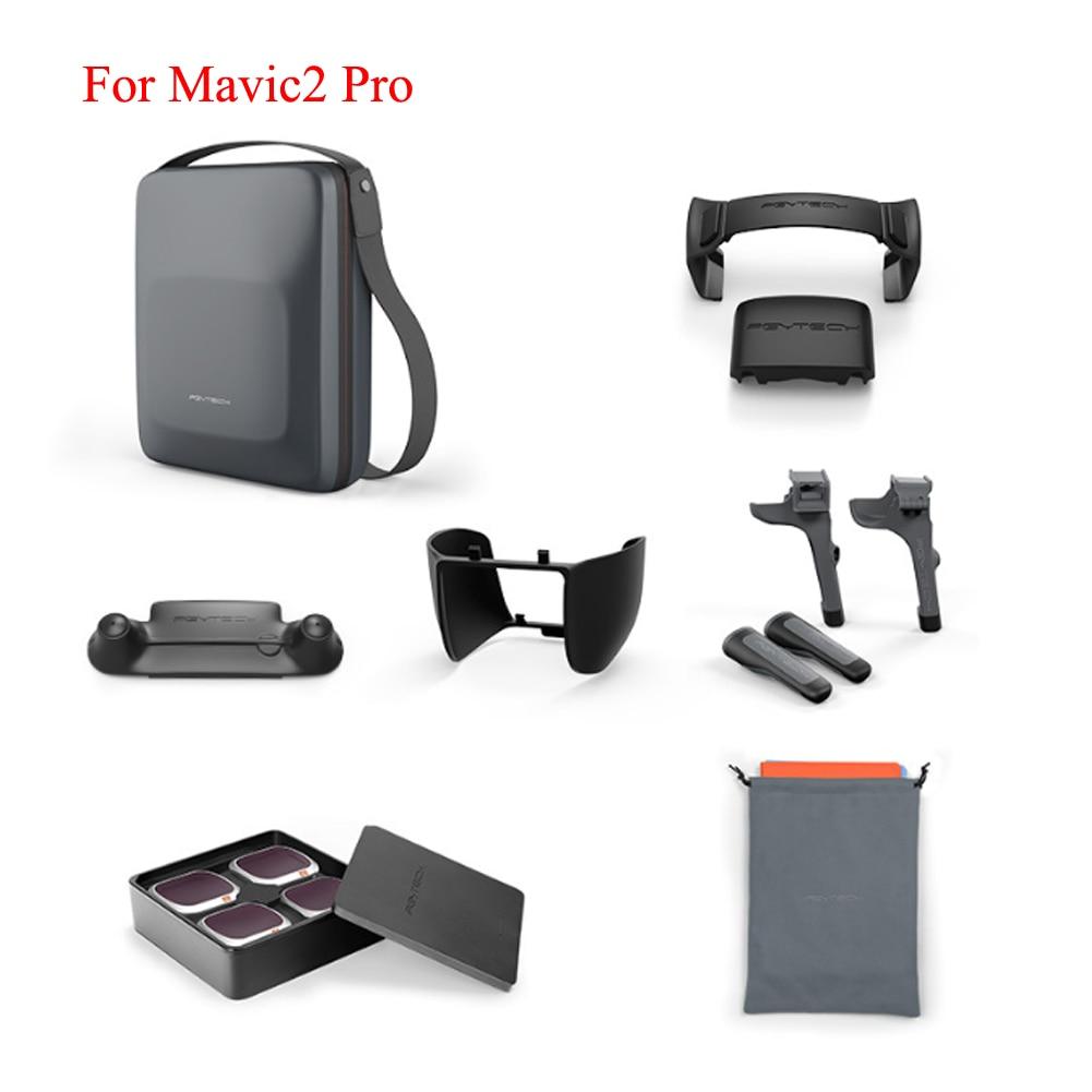 PGYTECH accessoires Combo pour MAVIC 2 Pro étui de transport hélice/bâton de contrôle protecteur pare-soleil ND filtre train d'atterrissage/Pad