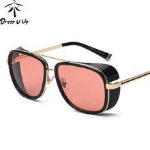 HOMEM DE FERRO 3 Matsuda TONY DRESSUUP Steampunk óculos de Sol Men  Espelhado Designer Marca Óculos Vintage óculos de Sol UV400 ae5120e810