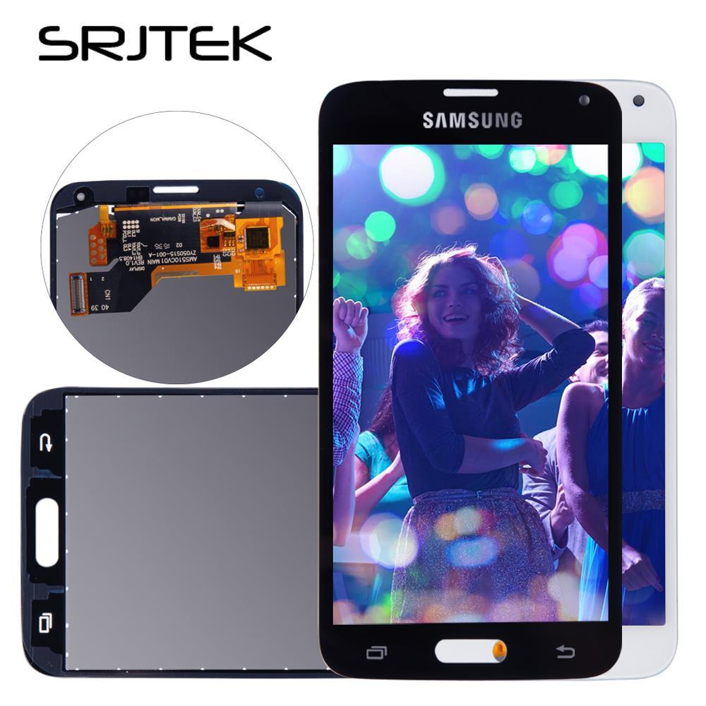 Pantalla para Samsung Galaxy S5 SM-G900 G900F G900 i9600 G900R G900F G900H G900M pantalla lcd touch digitizer Sensor de vidrio