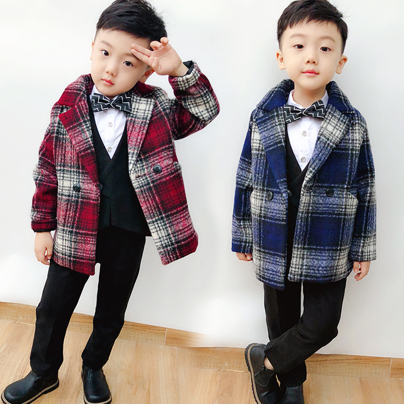 2-8Y new 2018 winter boys plaid woolen coat 1pc girls warm thick winter coat kids fall winter coat2-8Y new 2018 winter boys plaid woolen coat 1pc girls warm thick winter coat kids fall winter coat