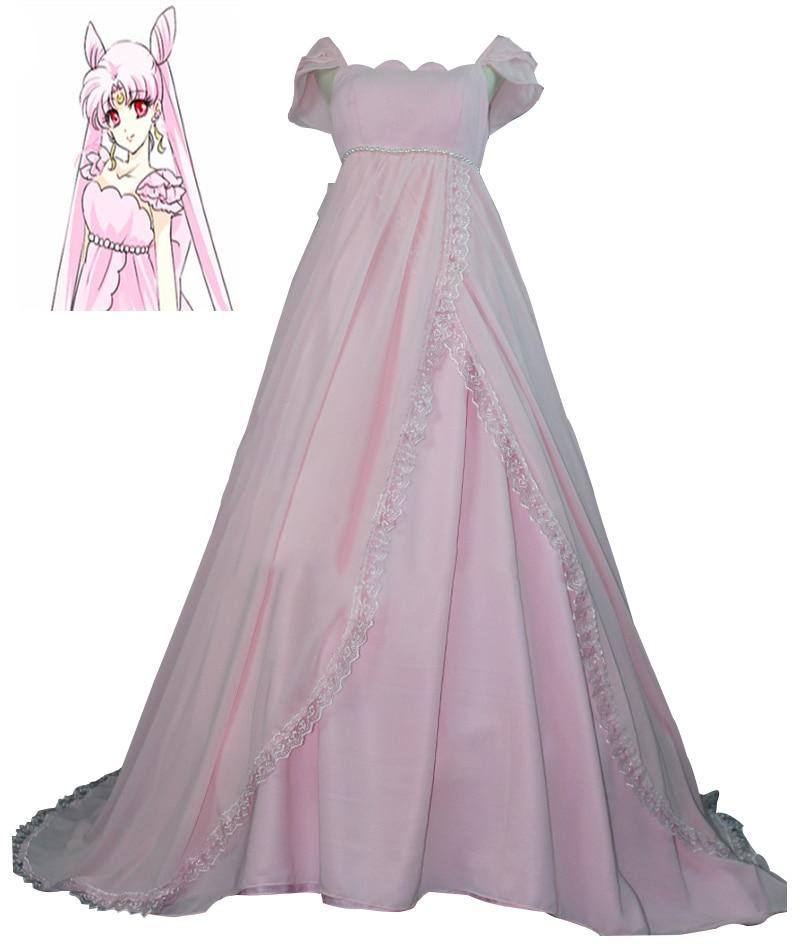 Anime marin lune princesse Chibiusa rose robe Cosplay Costume robe Lolita fête mousseline de soie robe