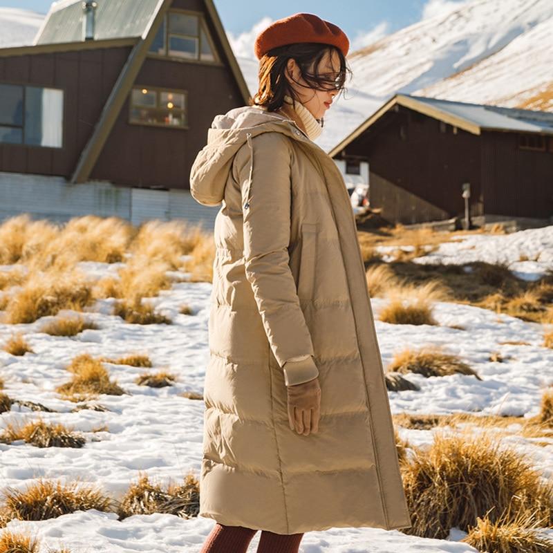 INMAN Inverno Nuovo Arrivo Con Cappuccio Stile Lungo Tutto Abbinato Caldo Donne Imbottiture Cappotto-in Piumini lunghi da Abbigliamento da donna su  Gruppo 3