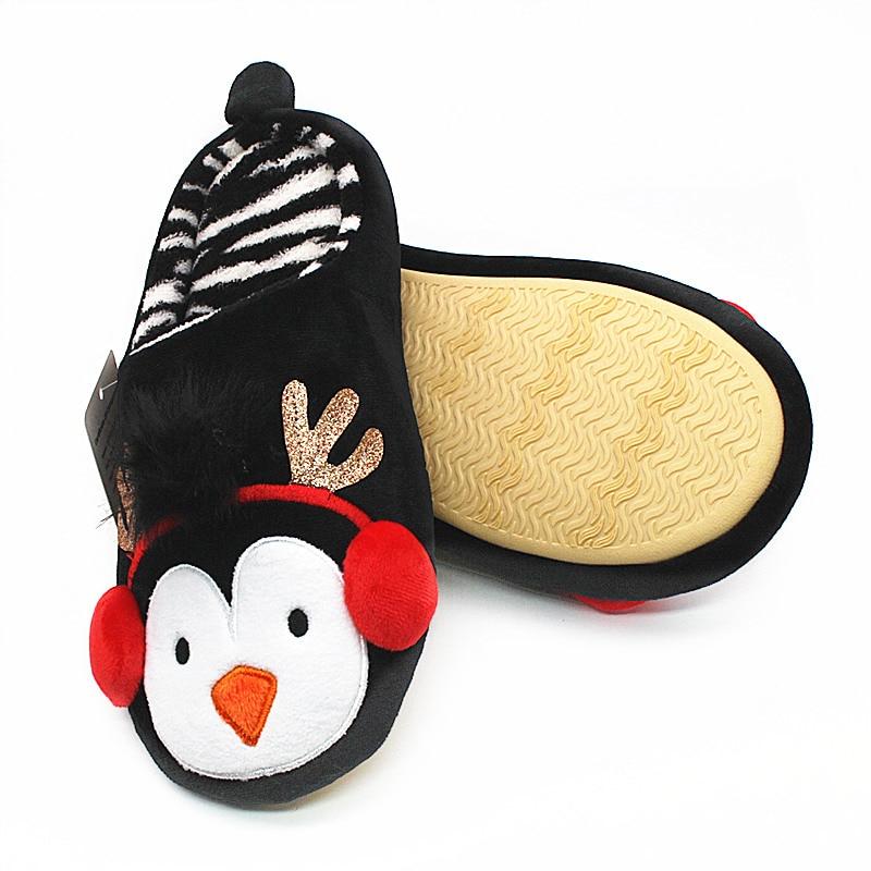 Noël Style blue De enfants Maison black Red hommes Femmes Pingouin pink Mignon Animal Intérieur Hiver Halloween Pantoufle Chaud Pantoufles Ywz00U