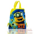 1pcs Minions Despicable Me Cartoon Drawstring Backpack Bags 34*27CM Non-Woven Fabric Multipurpose Bags as Gifts,School Furniture