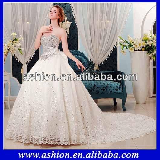 we 1867 heavy work expensive designer wedding dress gown in