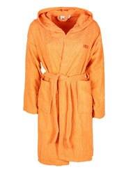 Халат с капюшоном-оранжевый
