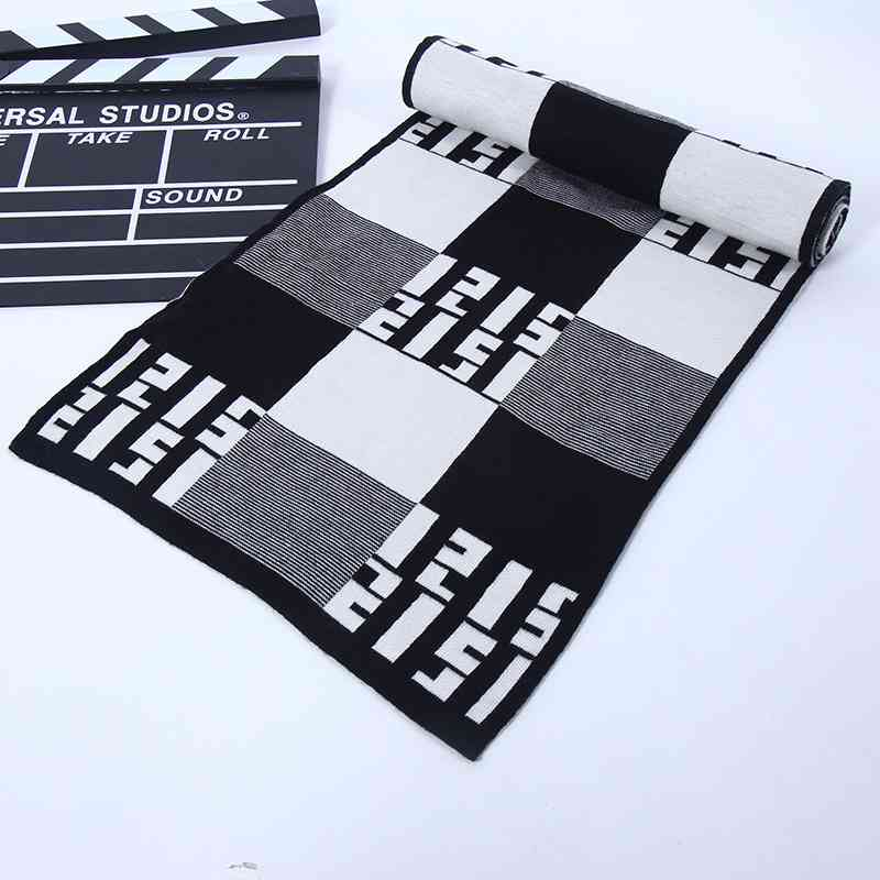 Chic font b Tartan b font Cashmere Scarf Men Luxury Brand Pattern Scarves Winter Rhombus Patchwork