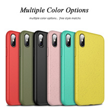 TPU+Wheat straw Phoner Coque For iPhone XS Max XR Case Silicon Soft TPU 7 Plus 8 Cover With Protector