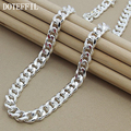 10MM 22-Inch Men Necklace Side Chain New Hot Fashion Atmospheric 925 Sterling Silver Jewelry Statement Necklace