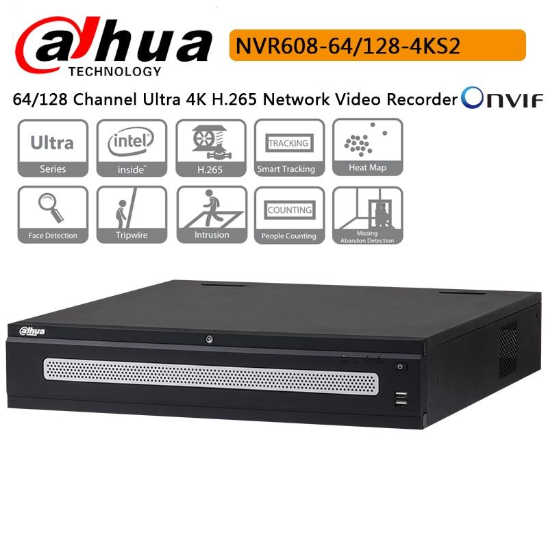 Dahua 64CH 128CH NVR608 64 4KS2 NVR608 128 4KS2 Ultra 4K H 265 Network Video Recorder