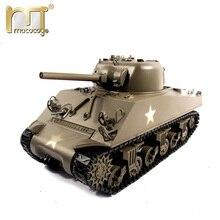 Ready to Run Mato 1:16 1/16 Complete 100% M4A3(75)W Sherman Metal RC Tank Recoil barrel version, toy tank, metal model