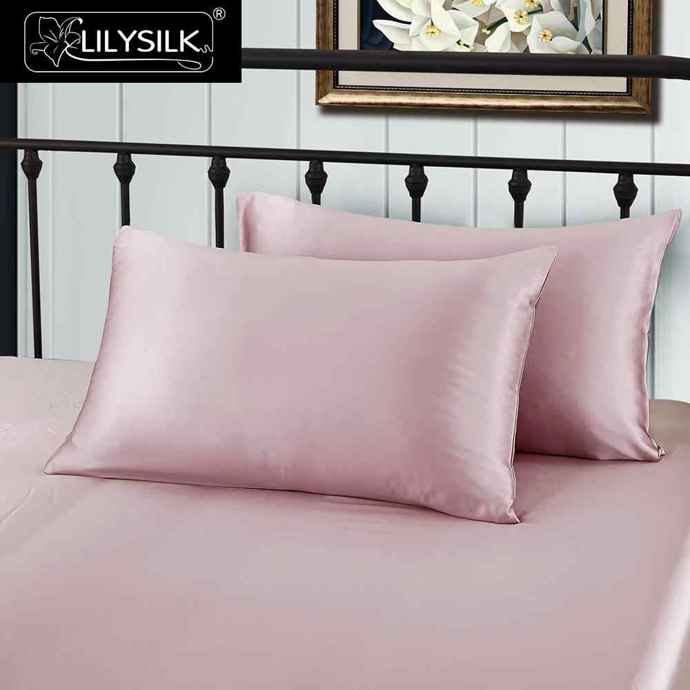 LilySilk Pure 100 Silk Pillowcase Hair With Hidden Zipper 19 Momme Terse Color For Women Men Kids Girls Luxury Free shipping