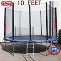 GSD 10 Футов Батуте Весной Jumpping С Безопасной Сети Подходит и 3 Ноги Лестницы TUV-GS Утвержден
