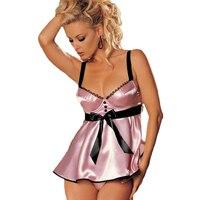 Cộng với Kích Thước Lingerie Sexy Lingerie Hot Dress + G Chuỗi Ngủ Trang Phục Sexy Babydoll Đồ Ngủ Cho Nữ Áo Sơ đồ lót SL069