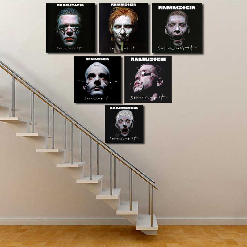 Rammstein Sehnsucht Album Cover Wall Art Canvas Poster And Print Canvas Painting Oil Decorative Picture For Bedroom Home Decor