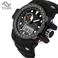TTlife Marca Pantalla Dual Relojes Deporte Fuera Hombre Senderismo Resistente Al Agua Reloj Electrónico Multifuncional Relojes de Pulsera