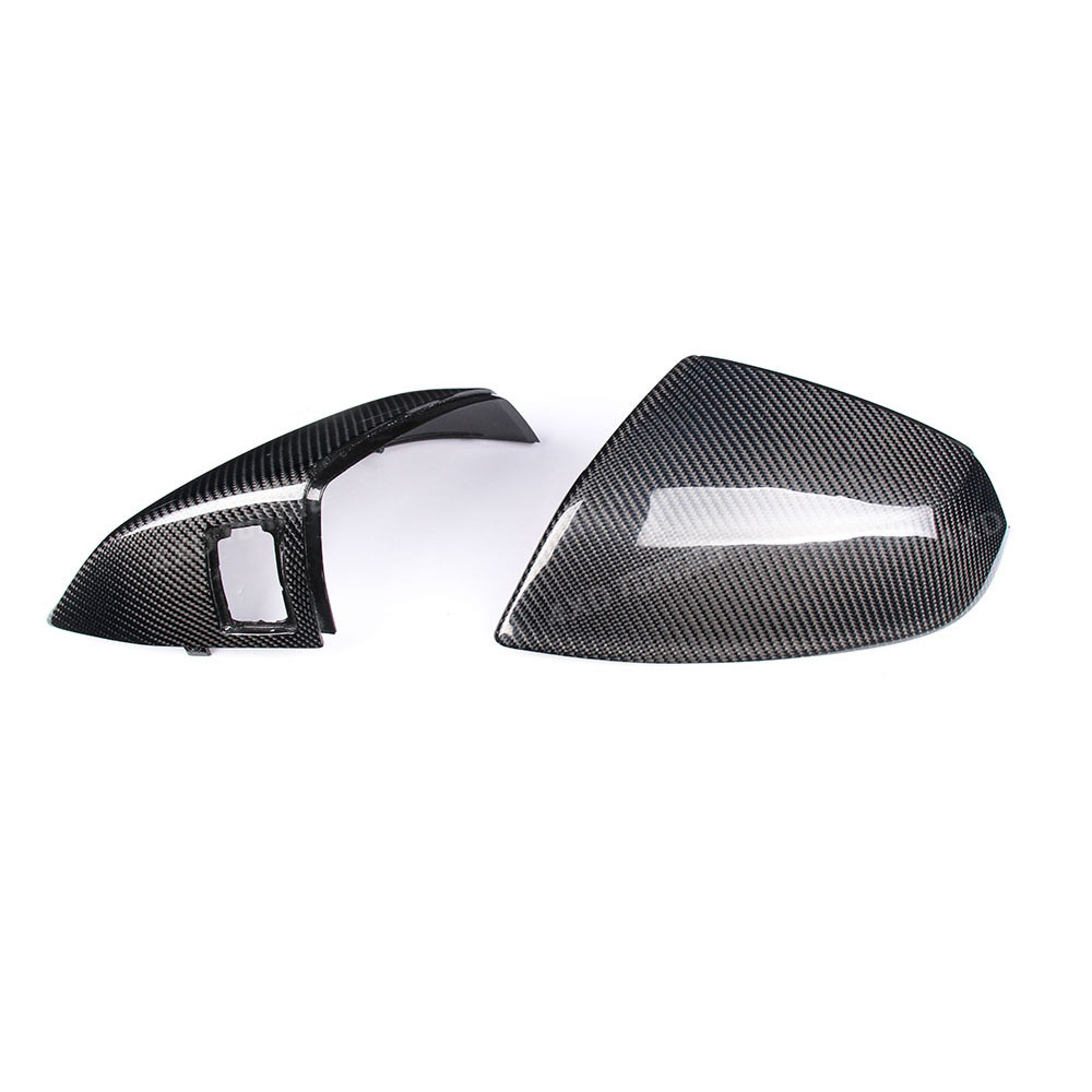 цена на 1:1 Replacement For Audi Q5 Q7 Carbon Fiber Mirror Cover Rear Side View Mirror Cover 2016 2017+ SQ5 Carbon Mirror Cover 2018+