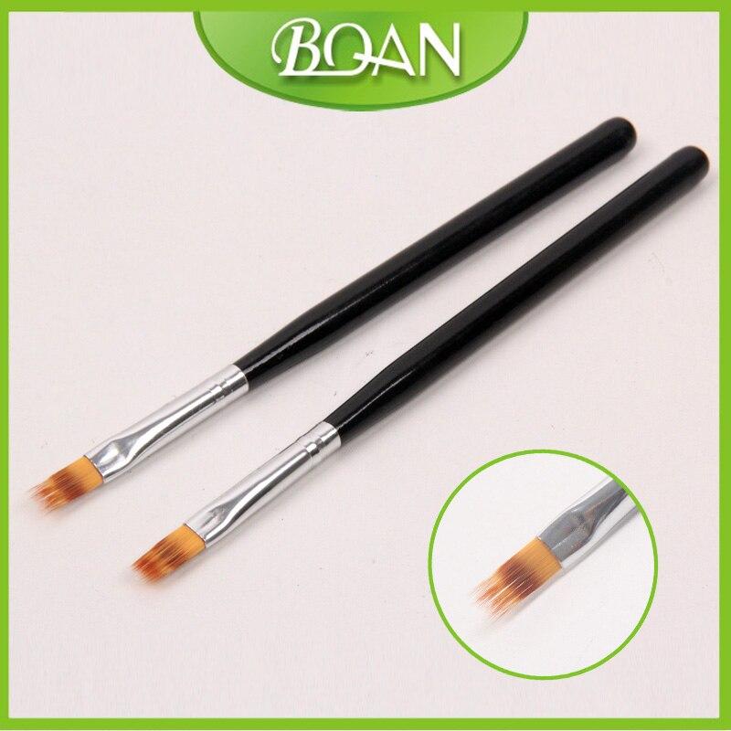 BQAN Nový profesionální štětec na nehty na dřevo pro lak na nehty Ombre kartáček na UV gel