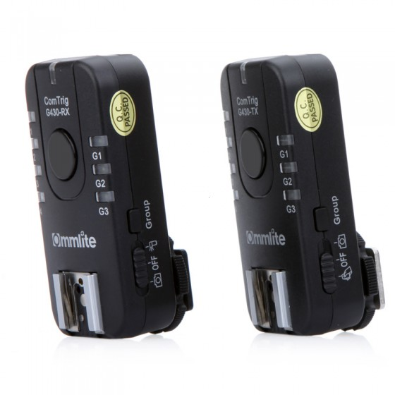 Accessoires Flash pour appareil photo groupe multifonctionnel déclencheur flash ComTrig G430 Kit de déclenchement Flash groupé pour appareils photo Nikon Pentax