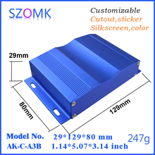 Junction-Box Szomk-Wall-Enclosure Aluminum-Case 10pcs for PCB Blue Anodising-Control-Box