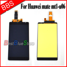 Black For Huawei ascend mate mt1-u06 lcd display + touch screen with digitizer Assembly Free shipping !!! white black gold for huawei ascend mate s lcd display screen touch digiziter assembly with frame free shipping