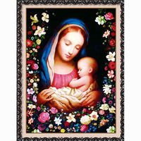 Virgin And Child New 5d Diamond Embroidery Kits Cross Stitch Home Decor Diamond Painting Mosaic Diy