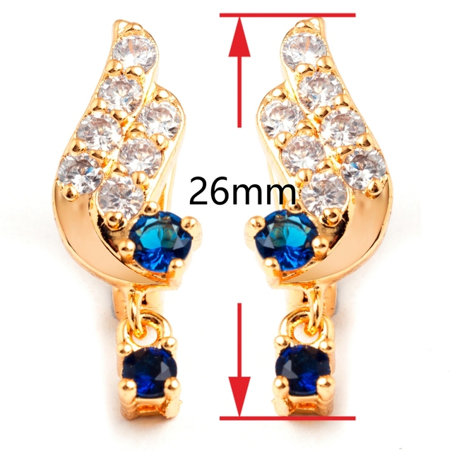 14k Gold Angel Wing Earrings