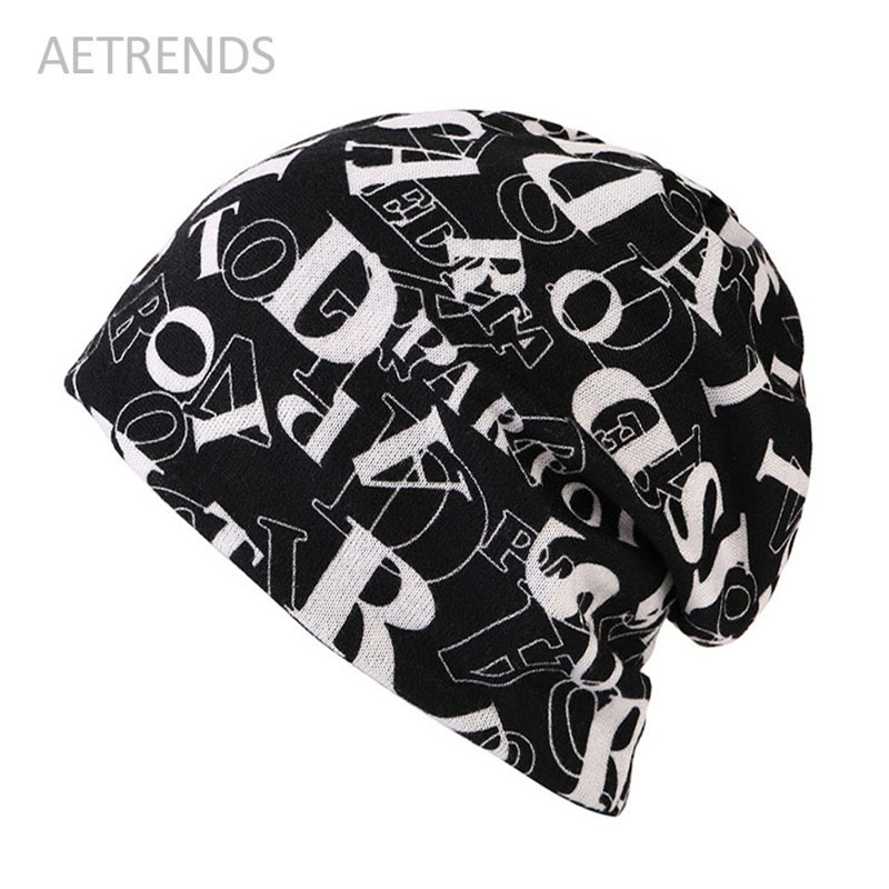 [AETRENDS] 2017 New Fashion Women Knit Warm Hat Scarf Two Used Woman Cap Beanie Skullies For Girl Autumn Caps Bonnet W447 miaoxi women autumn hat two used caps knitted scarf adult unisex casual letter beanies warm autumn beauty skullies hat girl cap