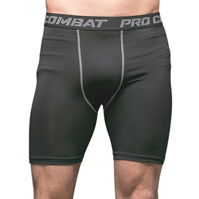 Shorts Trunks Elastic Dryfit Running MMA Gym Men Bodyboulding Fitness-Sweat YISHIDA Male
